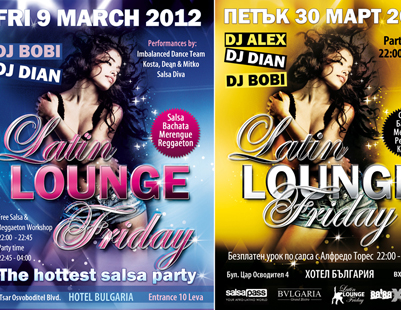 Design for Party Flyer - Latin Lounge